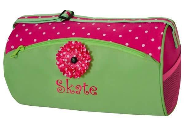 GNP-02SKATE   Green n Pink Skate Duffel