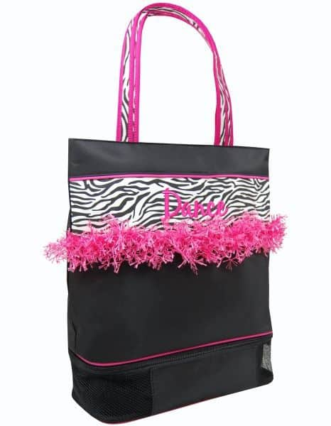 ZBR-02  Zebra/Fringe Large Dance Tote-See the Collection