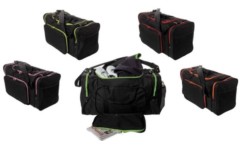 SD624  Large Square Duffel Team Bag 24″ in Five Trim Colors